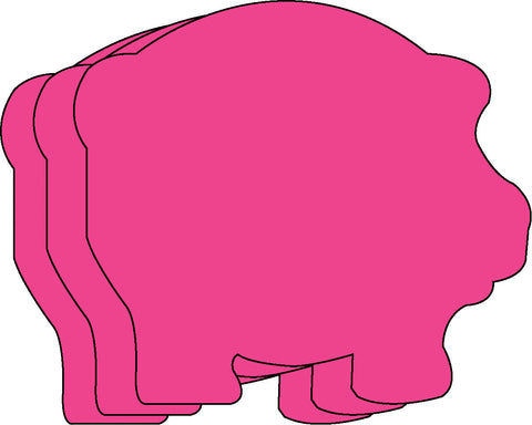 Picture of Small Single Color Creative Foam Cut-Outs - Pig