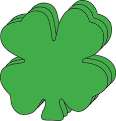 Small Single Color Creative Foam Cut-Outs - Four Leaf Clover (SE-7343)
