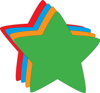 Magnets - Small Assorted Color Star