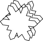 Small Single Color Creative Foam Cut-Outs - Snowflake