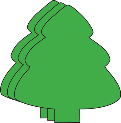 Small Single Color Cut-Out - Evergreen