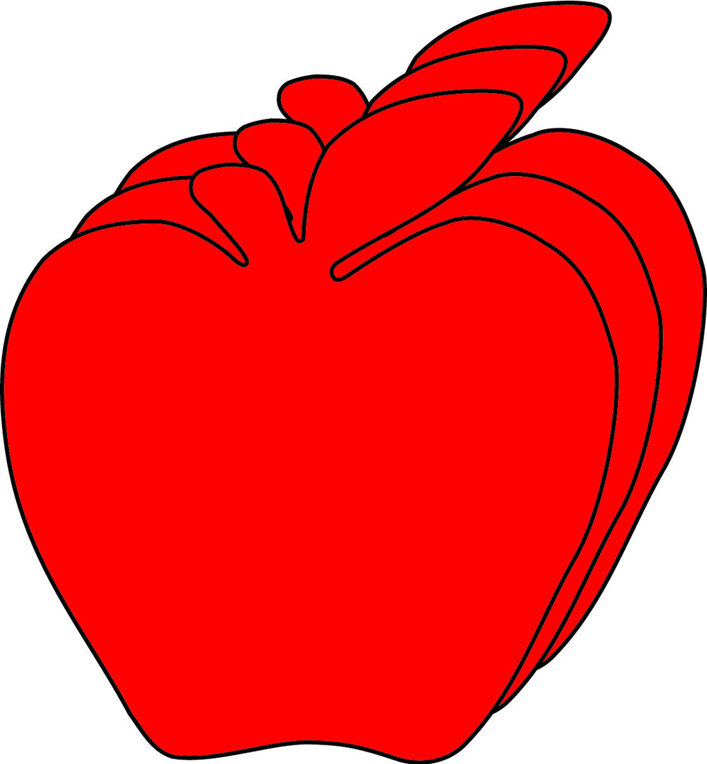 Small Single Color Cut-Out - Red Apple | Creative Shapes Etc.