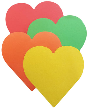 Creative Magnets - Large Assorted Color Heart - Creative Shapes Etc.