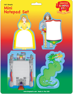 Mini Notepad Set - Medieval - Creative Shapes Etc.