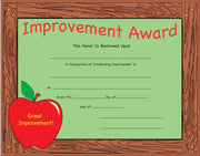 Recognition Certificate - Improvement Award - Creative Shapes Etc.