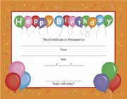 Recognition Certificate - Birthday - Creative Shapes Etc.