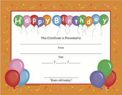 Recognition Certificate - Birthday