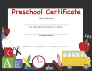 Recognition Certificate - Preschool Certificate - Creative Shapes Etc.