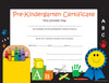 Recognition Certificate - Pre-K Certificate - Creative Shapes Etc.