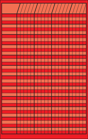 Picture of Small Incentive Chart - Red (SE-3340)