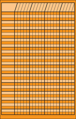 Small Incentive Chart - Orange - Creative Shapes Etc.