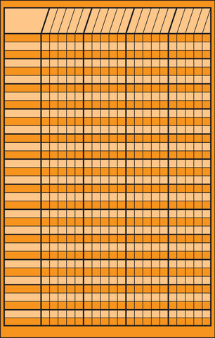 Picture of Small Incentive Chart - Orange