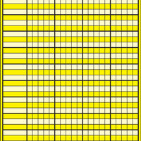 Small Incentive Chart - Yellow