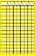 Small Incentive Chart - Yellow - Creative Shapes Etc.
