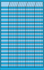 Small Incentive Chart - Blue
