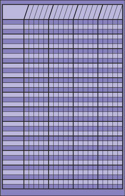 Small Incentive Chart - Lavender - Creative Shapes Etc.