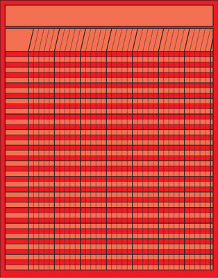 Vertical Chart - Red - Creative Shapes Etc.