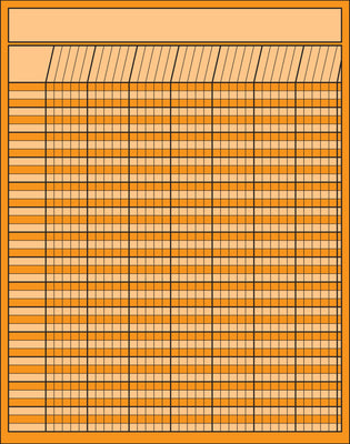 Vertical Chart - Orange - Creative Shapes Etc.