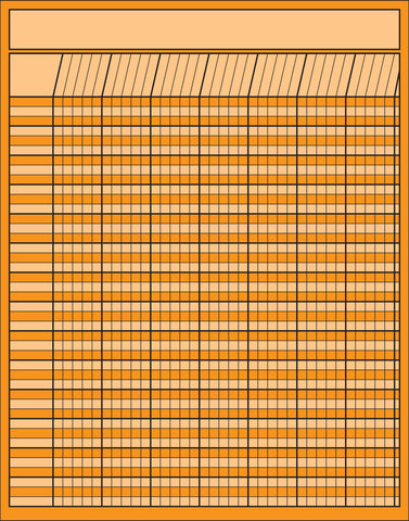 Picture of Vertical Chart - Orange (SE-3361)