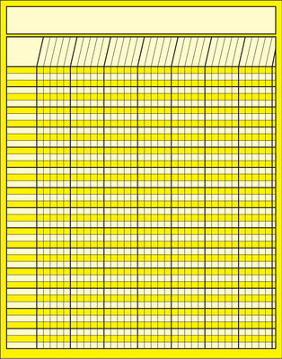 Vertical Chart  - Yellow - Creative Shapes Etc.