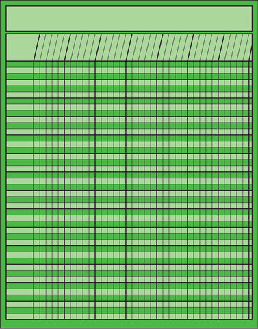 Picture of Vertical Chart - Green (SE-3363)