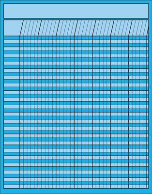 Vertical Chart - Blue - Creative Shapes Etc.