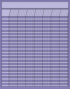 Vertical Chart - Lavender - Creative Shapes Etc.