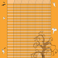 Vertical Incentive Chart - Halloween - Creative Shapes Etc.