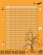 Vertical Incentive Chart - Halloween