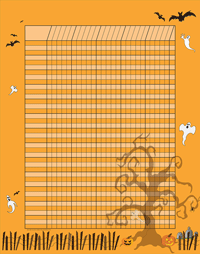 Picture of Vertical Incentive Chart - Halloween