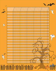 Vertical Incentive Chart - Halloween (SE-3367)