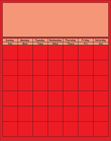 Picture of Vertical Calendar - Red (SE-3370)