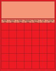 Vertical Calendar - Red
