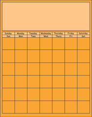 Vertical Calendar - Orange