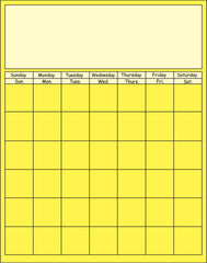 Vertical Calendar - Yellow