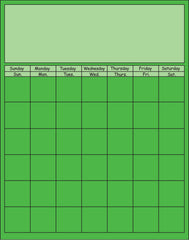 Vertical Calendar - Green
