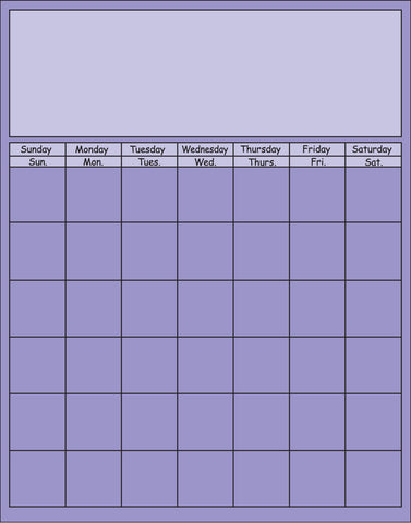 Picture of Vertical Calendar - Lavender