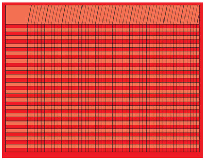 Horizontal Chart - Red - Creative Shapes Etc.