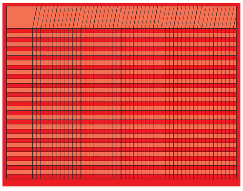 Picture of Horizontal Chart - Red
