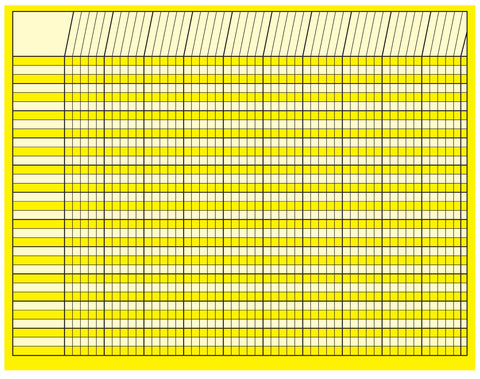 Picture of Horizontal Chart - Yellow