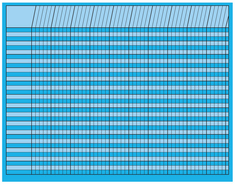 Picture of Horizontal Chart - Blue