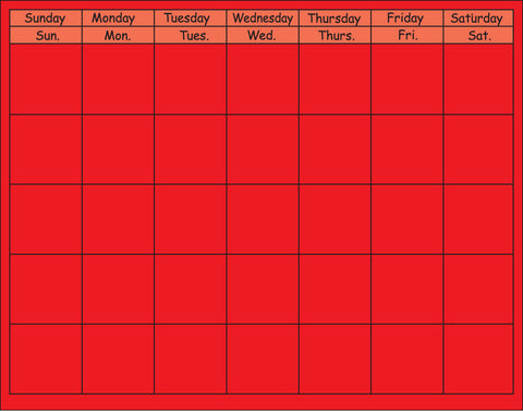 Picture of Horizontal Calendar - Red