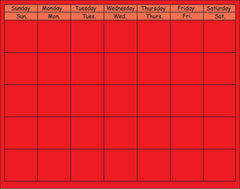 Horizontal Calendar - Red