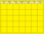 Horizontal Calendar - Yellow