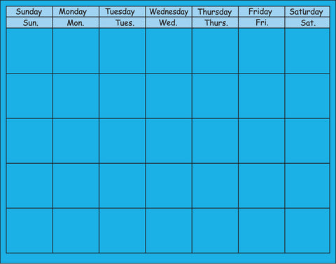 Picture of Horizontal Calendar - Blue