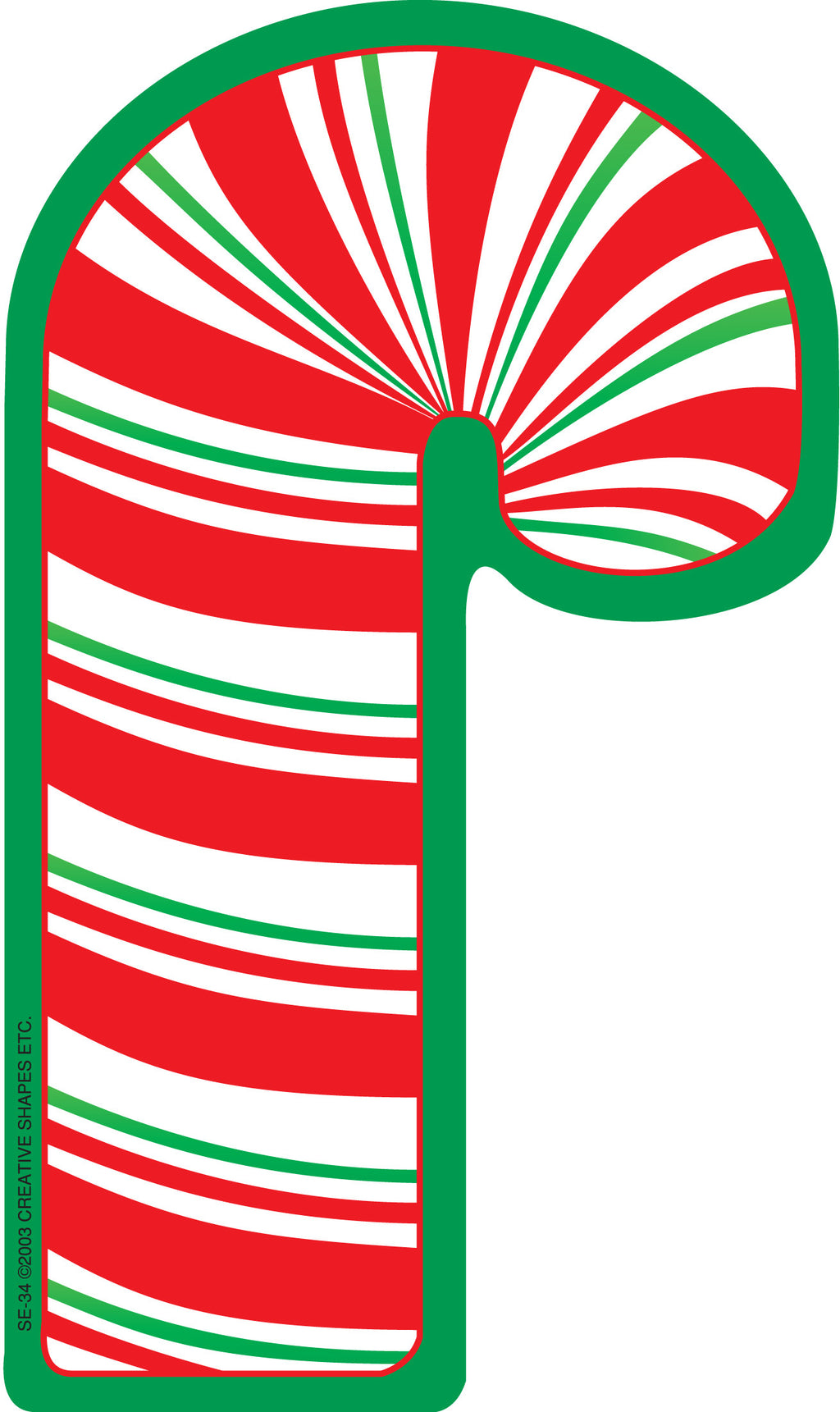 Large Notepad - Candy Cane - Creative Shapes Etc.