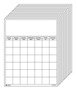 Vertical Calendar - Set of White