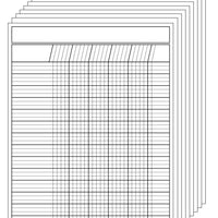 Vertical Chart - Set of 12 White