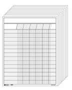 Vertical Chart - Set of 12 White - Creative Shapes Etc.