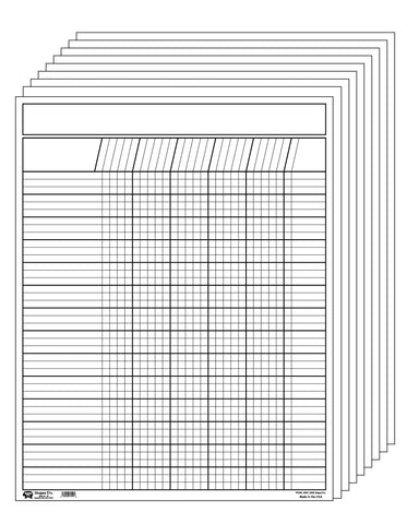Picture of Vertical Chart - Set of 12 White